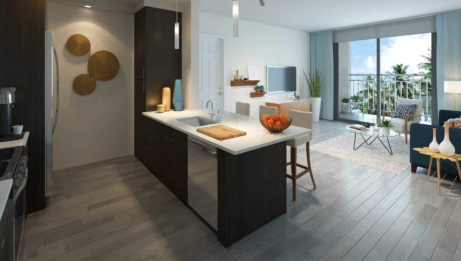 View of Apartment Kitchen
